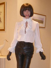 Leather is back (french_lolita) Tags: white black leather shirt pants leatherpants