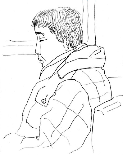 sleeping man on B62 bus