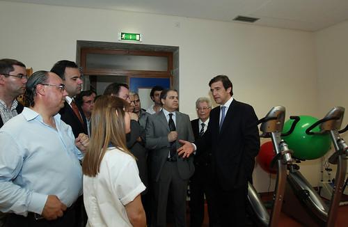 Pedro Passos Coelho visita Misericórdia de Peso Da Régua