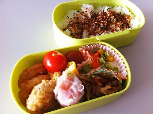今日のお弁当 No.163 – 海苔かつお