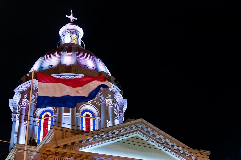 La inauguración de la restauración de la fachada e iluminación externa del Panteón Nacional de los Héroes el Miércoles 11 de Mayo. (Elton Núñez - Asunción, Paraguay)