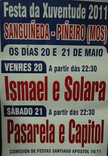 Mos 2011 - Festa da Xuventude en Sanguiñeda - cartel