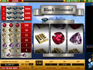 Black Diamond 3 Lines slot game online review
