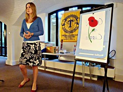 Sally Toastmaster opens our meeting by Julie70