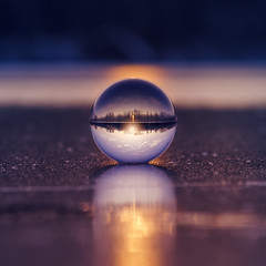 Winter sunset | Explored 2017.02.23 | Thank you all! (Pásztor András) Tags: winter frozen ice cold lake sunset glass sphere ball sun light sky clouds trees forest landscape mood wide angle 1870mm blue yellow nature dslr nikon d5100 hungary andras pasztor photography 2017