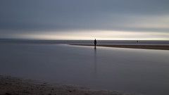 Solitude 2 (cathbooton) Tags: statue beach anotherplace crosby anthonygormley sea le longexposure leefilters bigstopper tripod canoneos canonusers canon6d reflection lifesize castiron february afternoon water 50mm sculpture modern artist uk light figure male