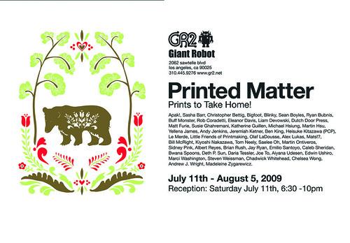 Printed Matter VII