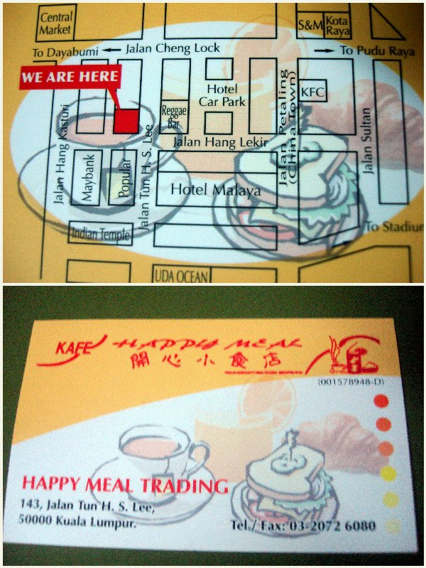 Happy Meal Kafe contact