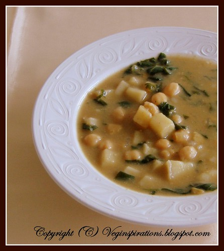 Spinach chickpea soup 4