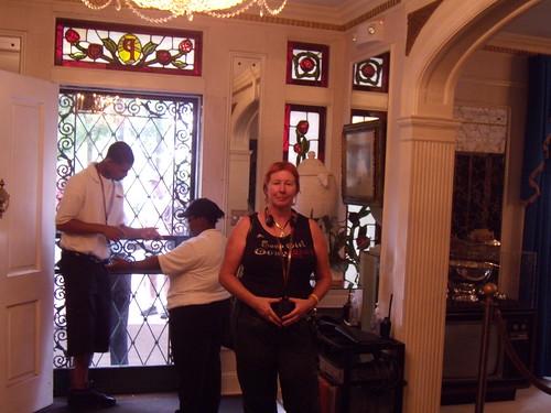 Peggy just inside Graceland
