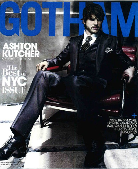 Ashton Kutcher in the latest edition of Gotham by Spread The Movie