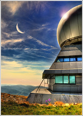 Atmo Sphere (Jean-Michel Priaux) Tags: sf sky moon france art window silhouette architecture illustration photoshop montagne painting stars landscape construction nikon bravo scope dream science peinture dreaming telescope sphere alsace astronomy sciencefiction unreal paysage cosmic hdr markstein montain vosges anotherworld futur futurist mattepainting astronomie hautrhin ballondalsace priaux aplusphoto saariysqualitypictures ballondeguebwiller