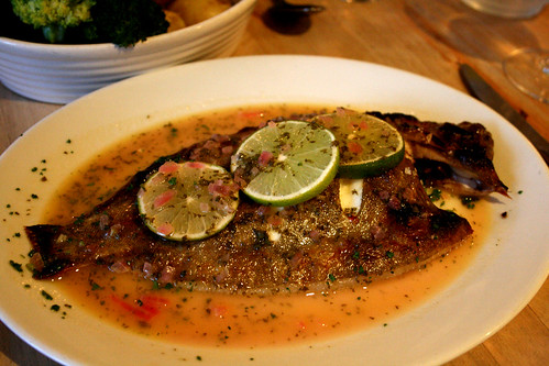 Lemon sole with lime