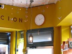 Vox Pop Clock (Uncle Catherine) Tags: nyc newyork brooklyn cafe coffeeshop 09 2009 clocks flatbush voxpop inmyhood brooklynnewyork
