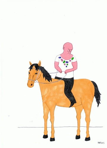 Weird guy on a horse