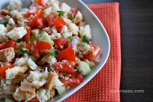 Panzanella, Italian Summer Bread Salad from Tuscany