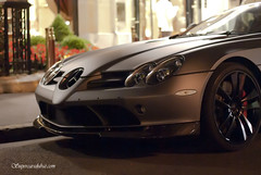 SLR Roadster Renovatio from Qatar in Paris (Mr Azrakino) Tags: plaza paris slr cars 50mm grey mercedes triangle pentax or champs east exotic middle v8 km matte qatar supercars roadster elysee youssef athenee  azrak mansory k2000 fa50 renovatio  smcpfa50mmf14 justpentax