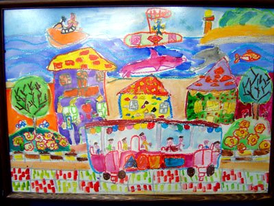 "children's painting of a ""dream city"" (by: United Nations Development Program - Bulgaria)"