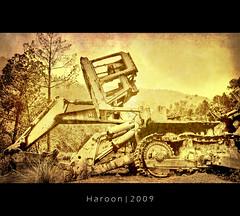 Cranes (Haroon Mustafa) Tags: old pakistan sky classic texture nature sepia nikon crane machine textures machines mustafa 2009 hdr muri islamabad murree haroon d60 meanmachine muree murri meanmachines nikond60