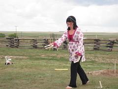 Horseshoe Tournament 2009 - Perfect Form for a Hippie (MMasoNN) Tags: melanie horseshoes
