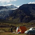 Eyjafjallajökull and Gígjökull by Þórsmörk 1965