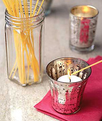uncommon uses for household items - spaghetti candle lighter
