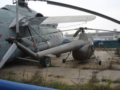 "Mil Mi-1 ""Hare"" (Skitmeister) Tags: 2005 museum airplane russia moscow space aircraft aviation air jets central jet helicopter soviet helicopters russian flugzeug letadlo russie mig rusland ussr moscou vliegtuig  sukhoi sssr  udssr yakovlev frunze khodynka     skitmeister"