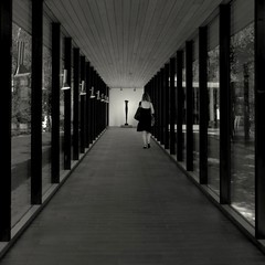 Species (Olli Keklinen) Tags: blackandwhite bw woman art photoshop square denmark vanishingpoint nikon lousiana artmuseum 2009 d300 ok6 ollik 20090907