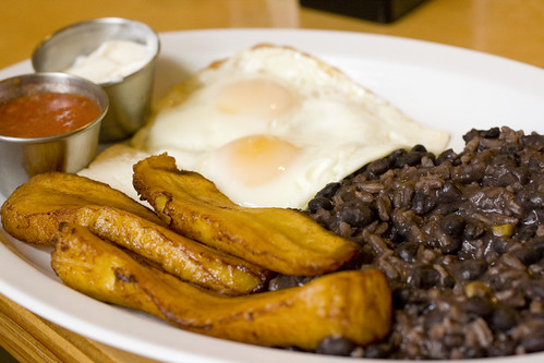 Sunny Side Up, Rice and Beans, Plantains