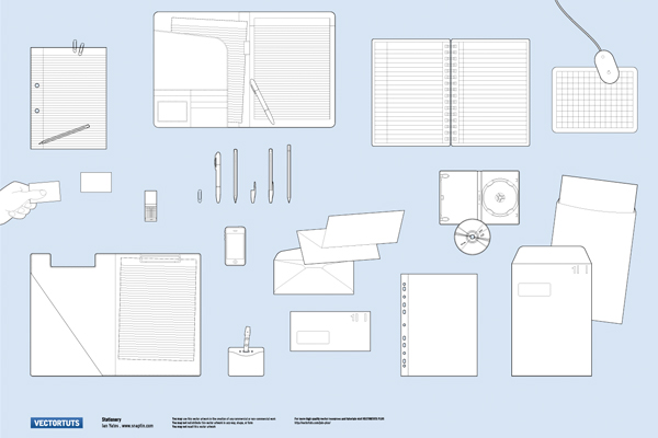 Exclusive Stationery Vector Pack