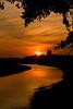 The river flows.... (dewollewei) Tags: sunset sun river gold rivier vecht devecht hardenberg supershot platinumheartaward naturemasterclass diffelen goldendiamondblog daarkland
