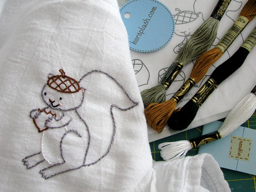 A Giveaway! Squirrel Embroidery Kit!