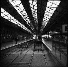(artur sikora) Tags: street ireland urban dublin 120 6x6 film analog train holga connollystation artursikora