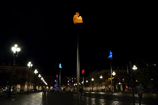 Place Masséna night time
