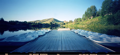 paddle boat dock (sawtoothphoto) Tags: mountain dock pond image pinhole idaho rings dollar hi zero newton 612 paddleboats sunvalley ektar