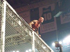 Orton Staring At Cena From Top Of Hell In A Cell