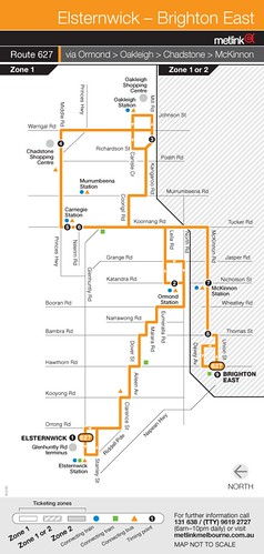 Bus route 627 map