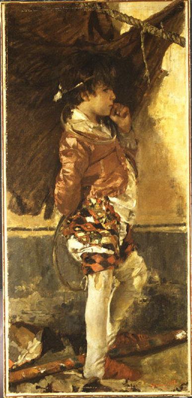 Mancini, Antonio (1852-1930) - 1872 A Circus Boy (Metropolitan Museum of Art, NYC)