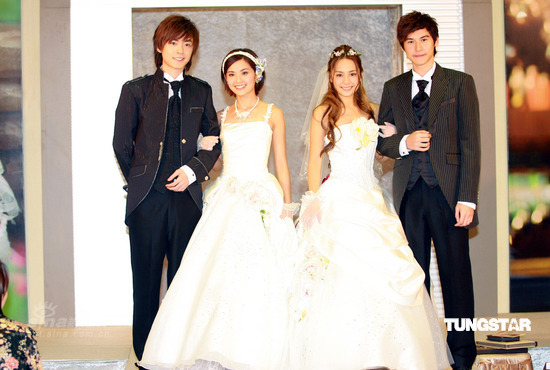 HongKong Actress Twins (group) Wedding Dress Photos  tag: hongkong actress twins