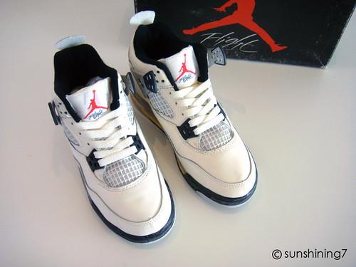 Sunshining7 - Nike air Jordan IV (4) - OG 1989 - White Cement Grey