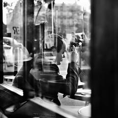 Volutes reflexions (Thibaut Lafaye) Tags: paris café bar concentration cigarette smoke reflexion lire vitre fumer bistrot fumée 500x500 volute fivestarsgallery winner500 carréfrançais ganadormonocromo