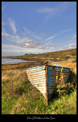 The Old Man of the Sea (Robert Riddell) Tags: old ireland sea galway boat connemara shore