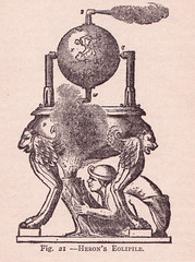 Heron's Eolipile (perpetualplum) Tags: history illustration vintage book flickr image drawing engine free science steam creativecommons 1910 machines uploads myths publicdomain freebie copyrightfree pre1923 thesciencehistoryoftheuniverse francisroltwheeler