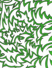 jagged_green_background