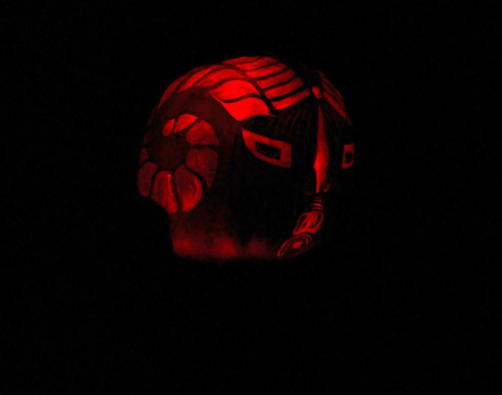 DSC02944 Giant Ram Pumpkin