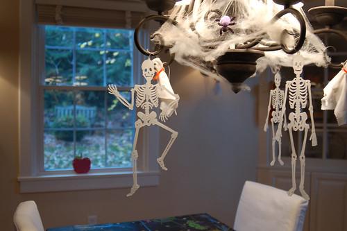 Halloween 2009: Spooky chandelier.
