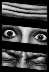 070/365 (Zuzana Kubatova) Tags: iris portrait blackandwhite bw white selfportrait black detail face lines closeup self project dark poster ojo blackwhite crazy pain eyes gesicht eyelashes ride emotion skin head expression fear oeil sp depression surprise worried shock depressed alfred 365 hitchcock scared augen mad forehead wrinkles wrinkle eyebrows feature projekt anxiety anxious pli wrinkly selfie oko oci falte falten plet crespa ruga project365 365days 365project oblicej runzen facefeatures emoce vyraz oboci pocity zornicka vrasky vyrazvobliceji vraska пересечка zmarszczka