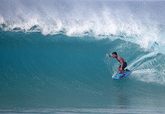 Bodyboarder Near Pipeline (sgblyth) Tags: beach hawaii surf waves oahu surfer wave surfing vague vagues olas pipeline welle ola bodyboarding onde bodyboard bodyboarder