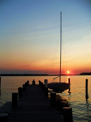 The South River, MD (lindscatt) Tags: sunset lake beauty dock md view maryland undefined chesapeake southriver gamewinner pregamesweepwinner birthdayspecialpregamesweepvpregamesweep pregameduelwinner