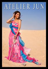 La Dolce Fuga 2 (crazy_trayzee) Tags: pink blue beauty fashion advertising model desert kate couture pinoyphotographer crazytrayzee atelierjun